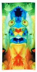 The Wedding - Abstract Art By Sharon Cummings Bath Towel