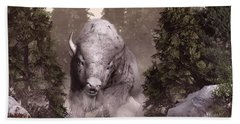 The White Buffalo Hand Towel by Daniel Eskridge