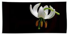The White Form Of Lilium Martagon Named Album Bath Towel