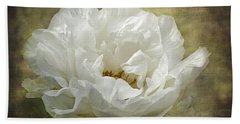 The White Peony Bath Towel