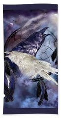 The White Raven Bath Towel