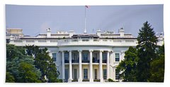 The Whitehouse - Washington Dc Hand Towel by Bill Cannon