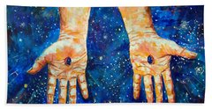The Whole World In His Hands Hand Towel by Lou Ann Bagnall