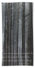 The Woods Bath Towel