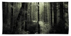 Bath Towel featuring the photograph The Woods by Katie Wing Vigil