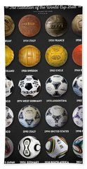 The World Cup Balls Hand Towel by Taylan Apukovska