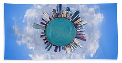 Hand Towel featuring the photograph The World Of Miami by Carsten Reisinger