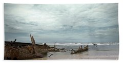 The Wreck Of The Maheno Hand Towel by Linda Lees