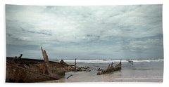 The Wreck Of The Maheno Bath Towel by Linda Lees