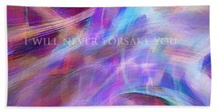 Hand Towel featuring the digital art The Writing's On The Wall by Margie Chapman
