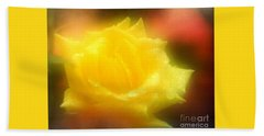 Bath Towel featuring the photograph New Orleans  Yellow Rose Of Tralee by Michael Hoard