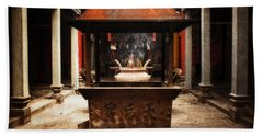 Bath Towel featuring the photograph Thien Hau Temple  by Lucinda Walter