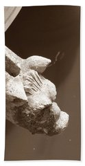 Thirsty Gargoyle - Sepia Bath Towel
