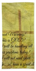 Hand Towel featuring the digital art This Is God by Erika Weber
