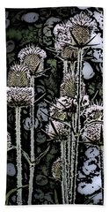 Hand Towel featuring the digital art Thistle  by David Lane