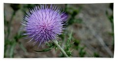 Bath Towel featuring the photograph Thistle by Rod Wiens