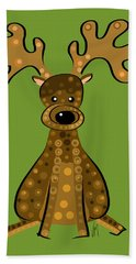 Thoughts And Colors Series Reindeer Bath Towel