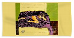 Bath Towel featuring the painting Thoughts Of You by Jackie Carpenter