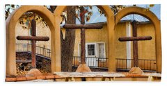 Three Crosses Of El Santuario De Chimayo Bath Towel