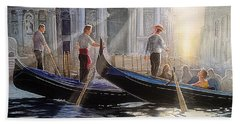 Three Gondoliers Hand Towel