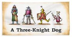 Three Knight Dog Bath Towel