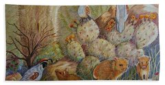Three Little Javelinas Bath Towel