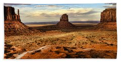 Three Mittens - Monument Valley  Arizona Bath Towel