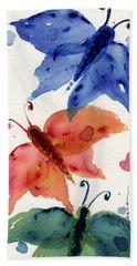 Three Moths II Hand Towel by Dawn Derman