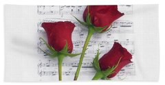 Three Rose Music Duvet Bath Towel