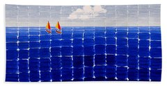 Three Sail Boats #2 Bath Towel
