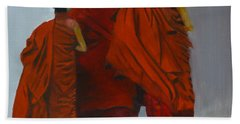 Three Young Monks Bath Towel