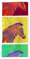 Three Zebras 2 Bath Towel by Jane Schnetlage