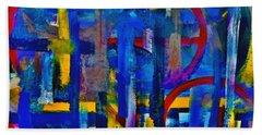 Anchored In Art Bath Towel by Lisa Kaiser