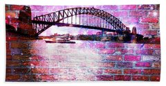 Sydney Harbour Through The Wall 1 Bath Towel by Leanne Seymour