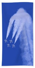 Thunderbirds Diamond Formation Downwards Bath Towel