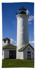 Tibbetts Point Lighthouse Bath Towel by Ben and Raisa Gertsberg
