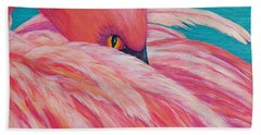 Bath Towel featuring the painting Tickled Pink by Susan DeLain