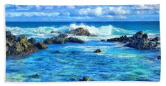 Tide Pool Near Hana Maui Hand Towel