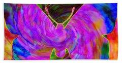 Tie-dye Butterfly Hand Towel by Elizabeth McTaggart