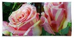 Tie Dye Roses Bath Towel
