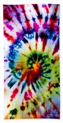 Tie Dyed T-shirt Bath Towel by Cheryl Baxter