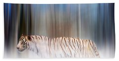 Tiger In The Mist Bath Towel