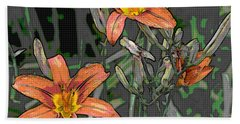 Tiger Lilies Of Canvas Hand Towel