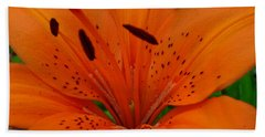 Bath Towel featuring the photograph Tiger Lily by Bianca Nadeau