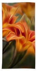 Tiger Lily Hand Towel by Bill Wakeley