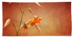 Tiger Lily Hand Towel by Lena Auxier