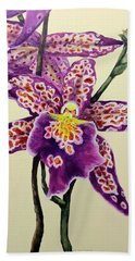 Tiger Orchid Hand Towel
