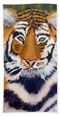 Tiger Bath Towel by Pamela  Meredith