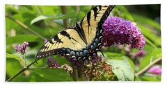 Tiger Swallowtail On Butterfly Bush Hand Towel