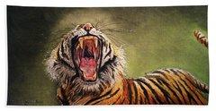 Tiger Yawn Hand Towel